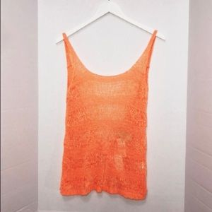 Millau sweater tank NWT size small orange